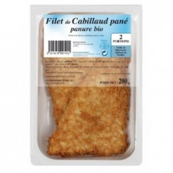CABILLAUD FILETS PANE (2) 200G